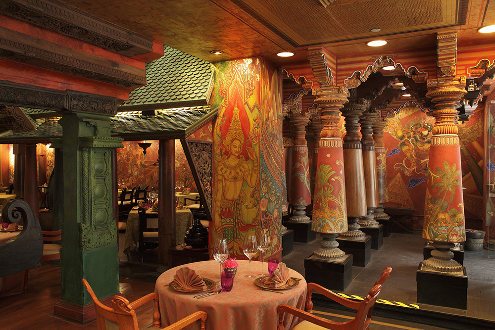The Spice Route restaurant at the Imperial Hotel in New Delhi