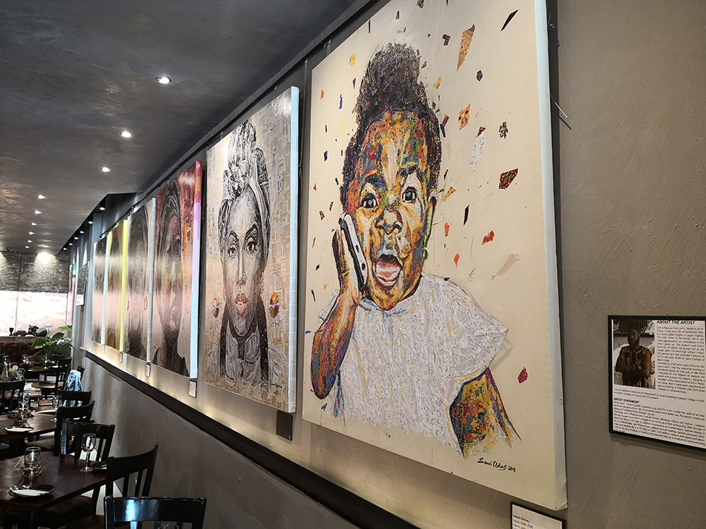 Art gallery at Kitchen Vibes