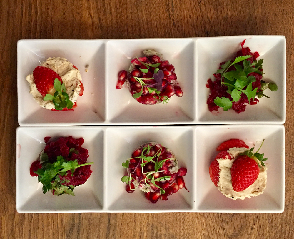 Some of the tasty condiments include Moroccan beetroot and juniper berry infused goats cheese and seasonal fruit