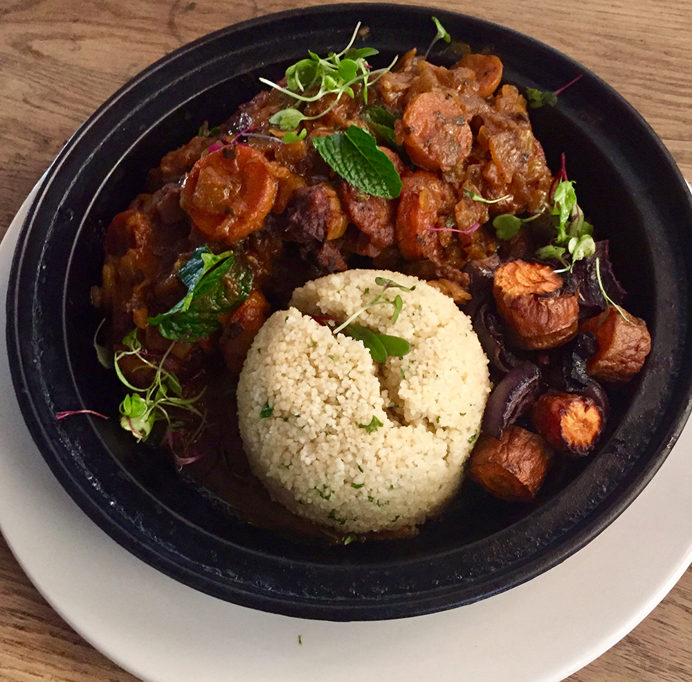 Guinea fowl tagine is on the Taste of the Wild menu at moyo Melrose Arch