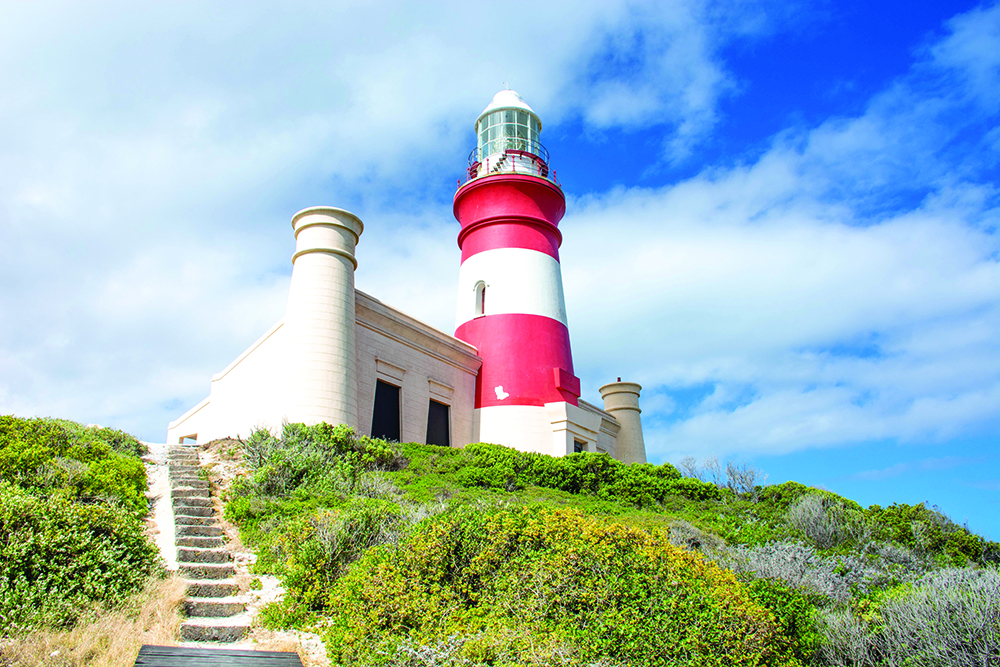 The second-oldest lighthouse in South Africa at Agulhas . Photo: Melanie van Zyl