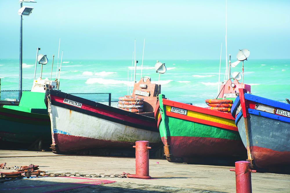 Fishing boats in Arniston. Photo: Melanie van Zyl.