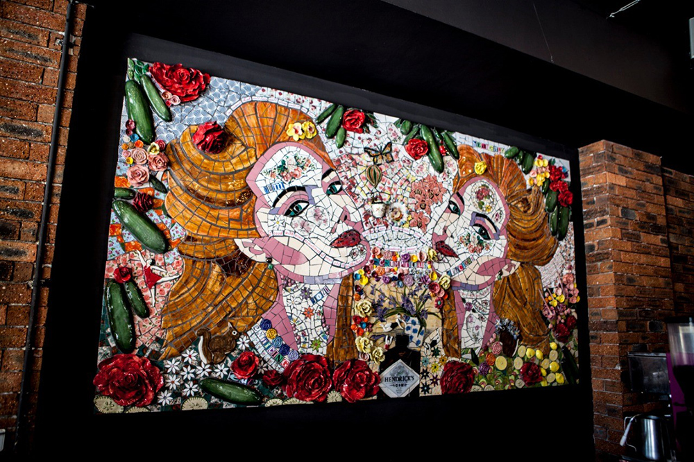 Mosaic inside Voodoo Lily