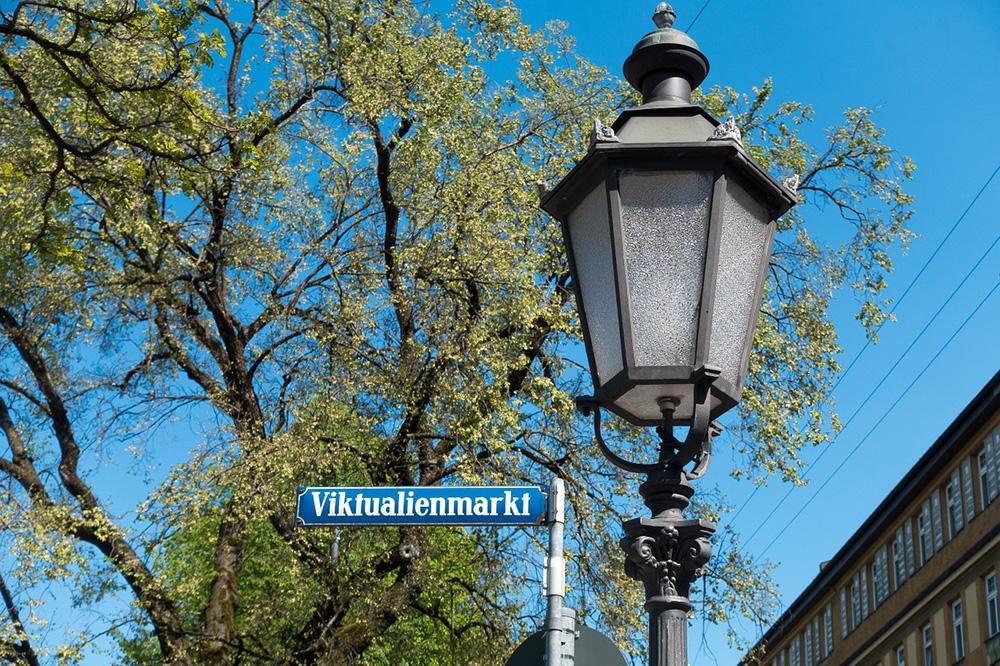 Viktualienmarkt street