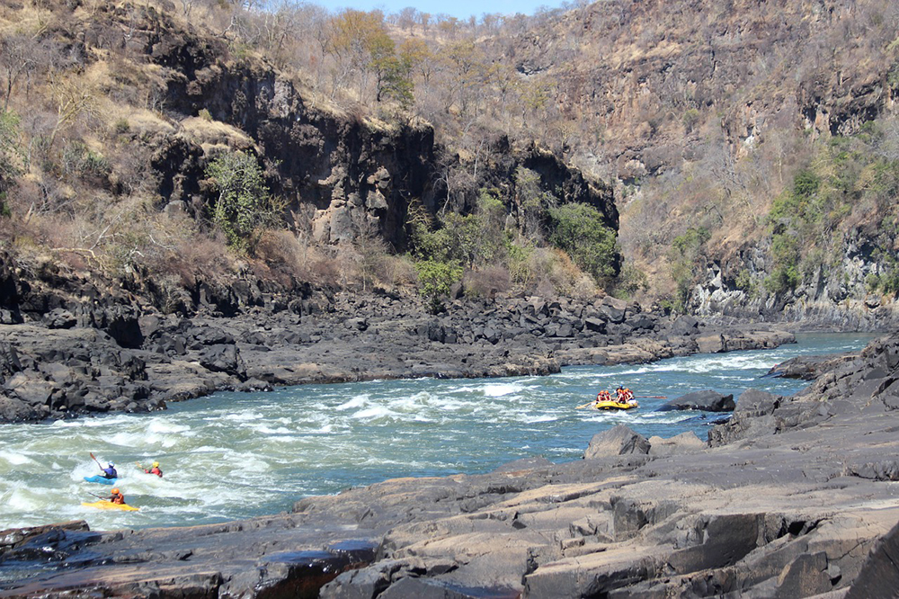 Whitewater rafting on the Zambezi