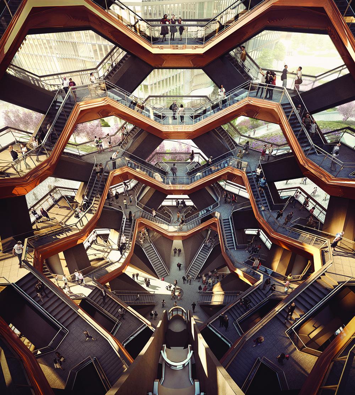 Interior View of the Vessel. Photo: Forbes Massie-Heatherwick Studio