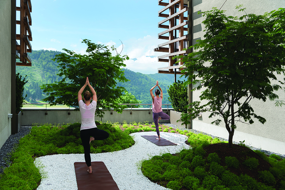 Outdoor Yoga at the hotel