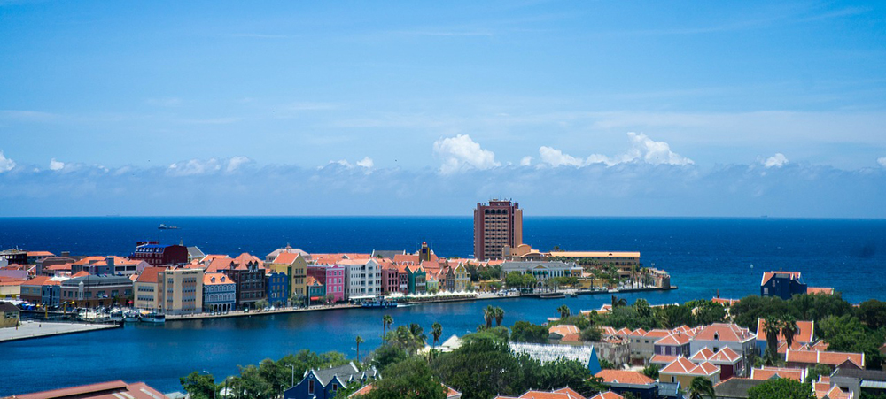 Willemstad, Curaçao in the Caribbean
