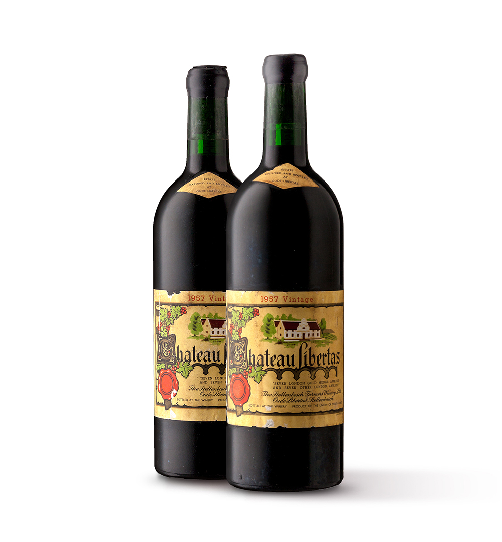 Strauss & Co fine wine auction lots_12-ChateauLibertas-Red-1957-2