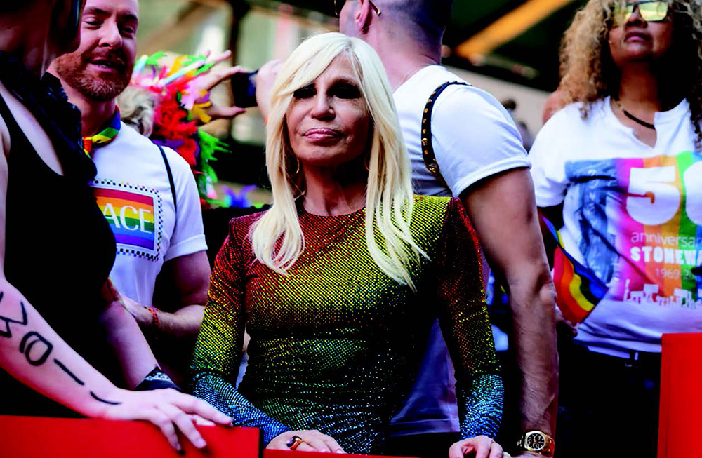 Donatella Versace attends the WorldPride NYC 2019 March