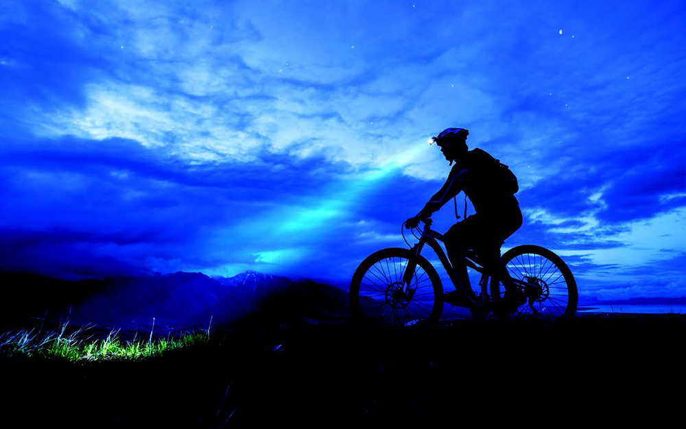 Night biking
