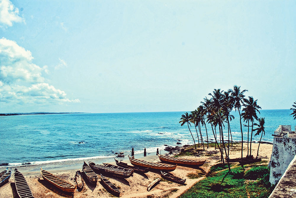 Scenic-view-of-a-beach-in-Ghana