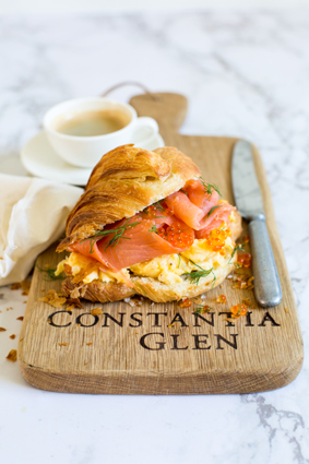 CG Breakfast croissant with smoked trout