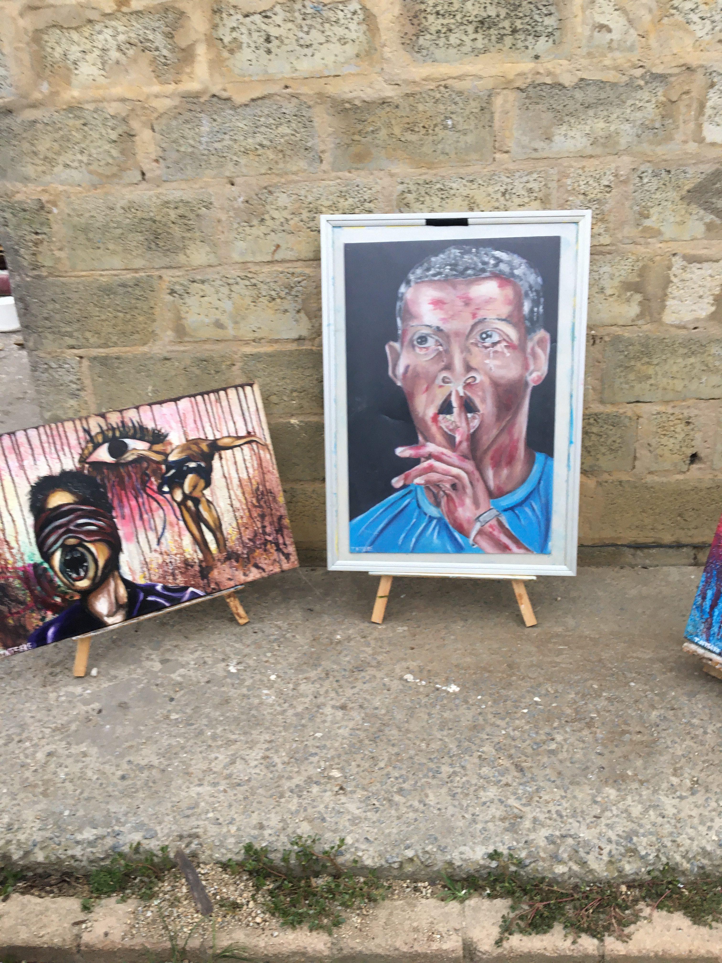 Thembinkosi Earnest's paintings